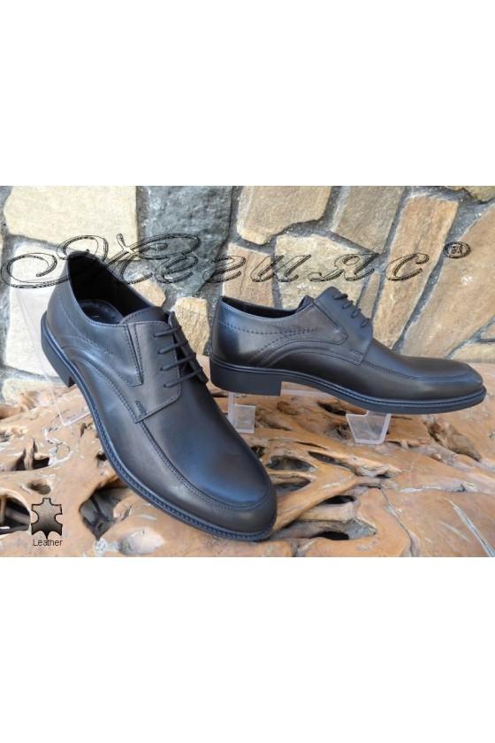Мъжки обувки Фантазия 14007 черни от естествена кожа елегантни