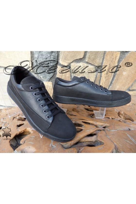 Men's shoes DMT 104 black leather