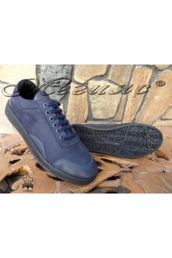 Men's shoes DMT 203 blue leather