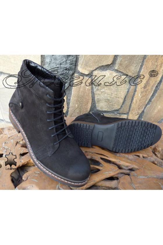 Men's boots SHARP 1010 black leather