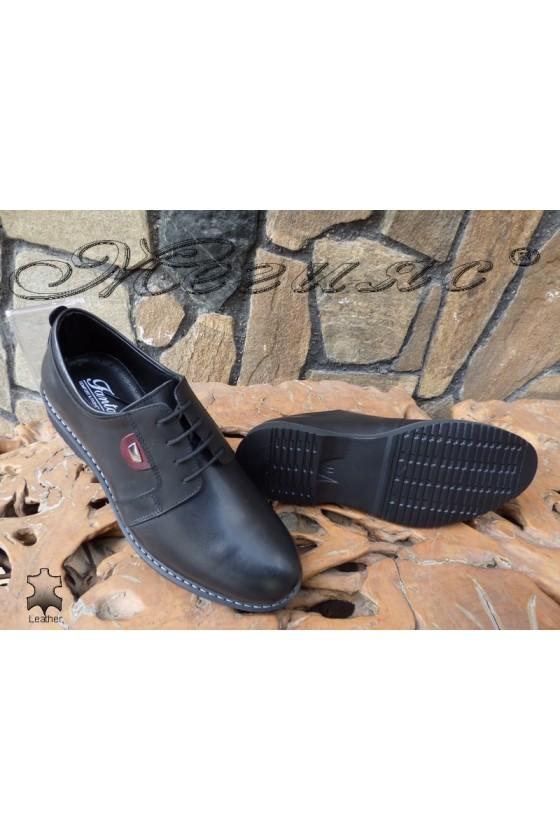 Мъжки обувки Фантазия 14504 черни от естествена кожа елегантни