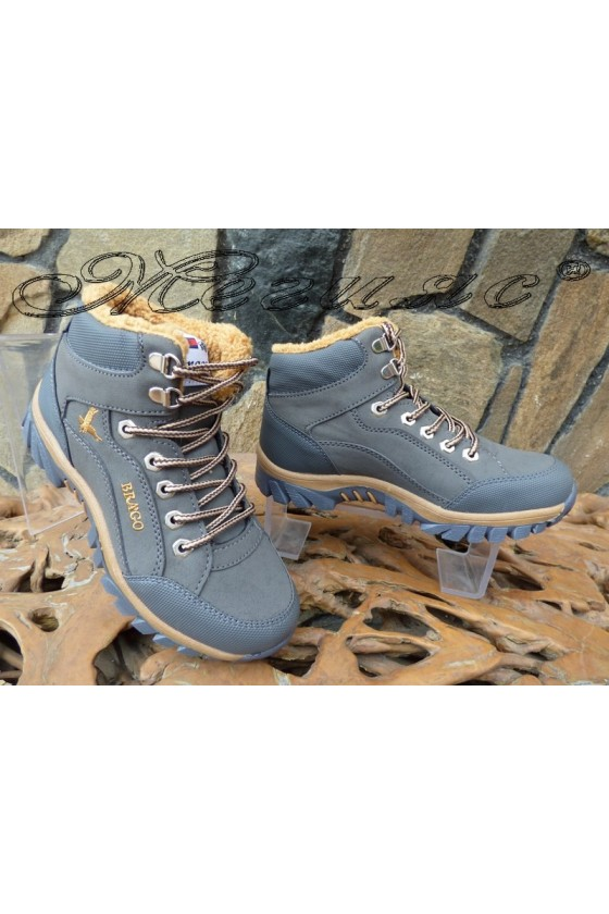 Men's boots 518 grey pu