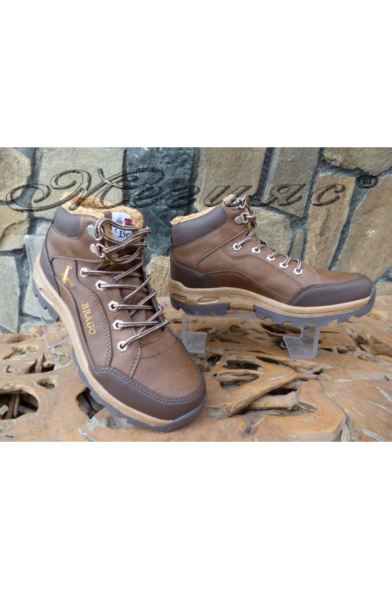 Men's boots 518 Lt.brown pu