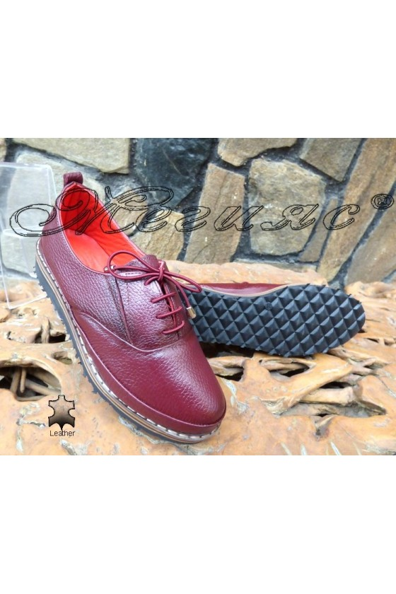 Lady shoes 1-k wine leather