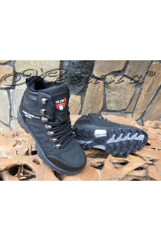 Men's boots 1557 black/black pu