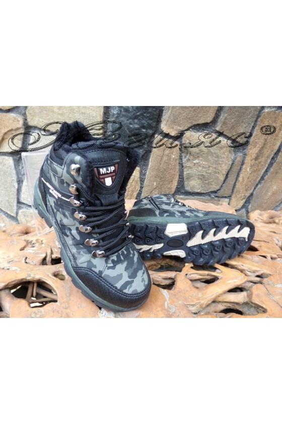 Men's boots 1557 green pu