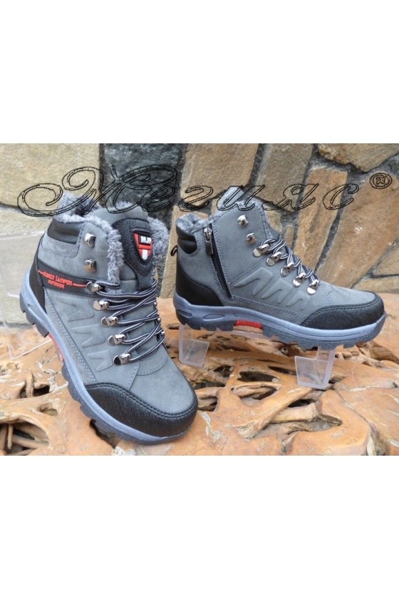 Men's boots 1557 grey pu