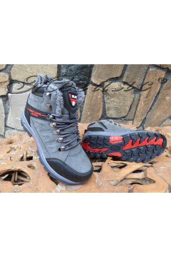 Men's boots 1557 grey pu