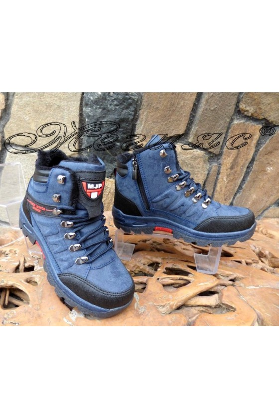 Men's boots 1557 blue pu