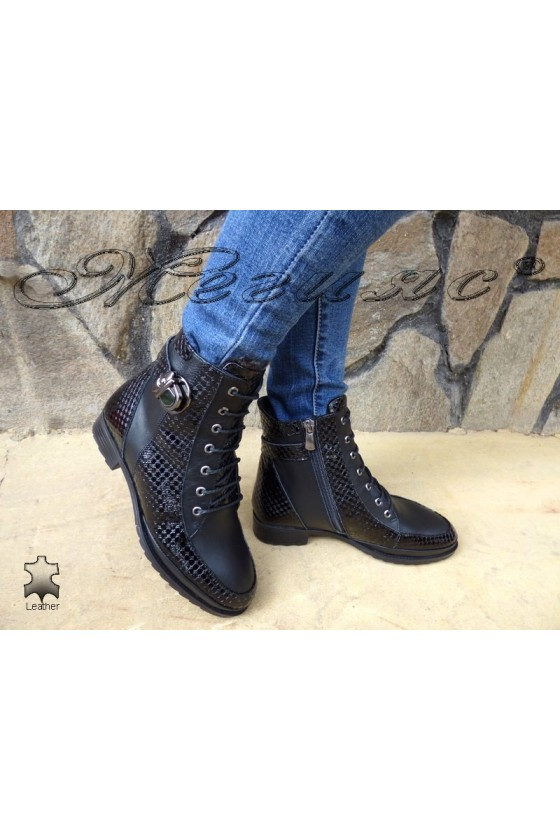 Lady boots 4126 black leather
