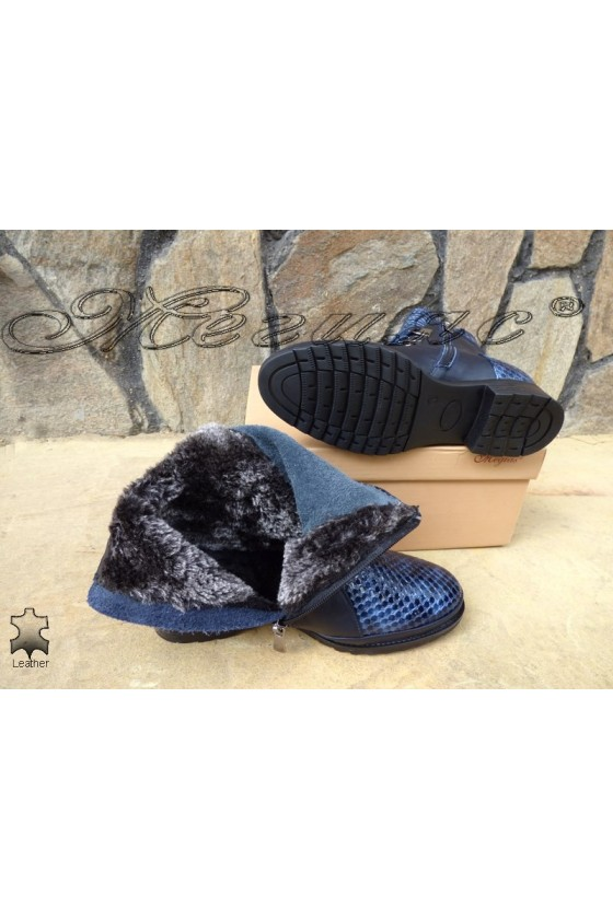 Lady boots 4127 blue  leather
