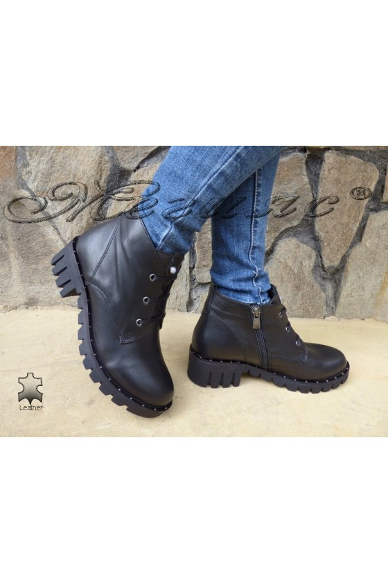 Lady boots 3093-01 black leather