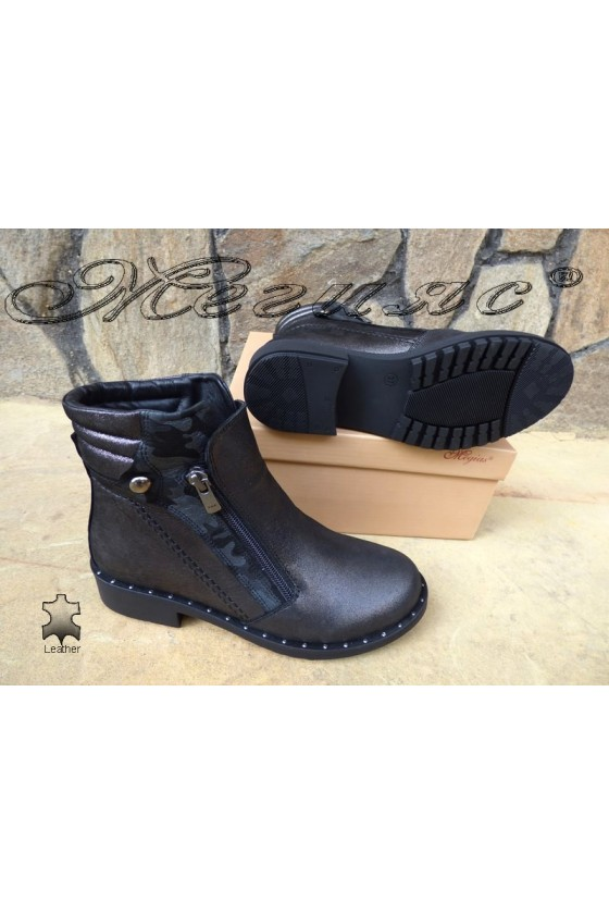 Lady boots 61-32  dk.grey leather