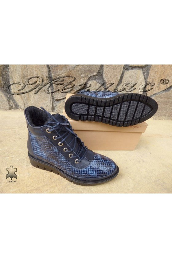 Lady boots 4095 blue patent