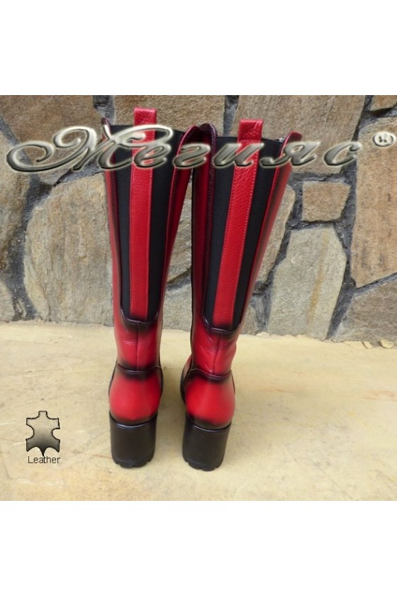 Women boots 50/88 red leather