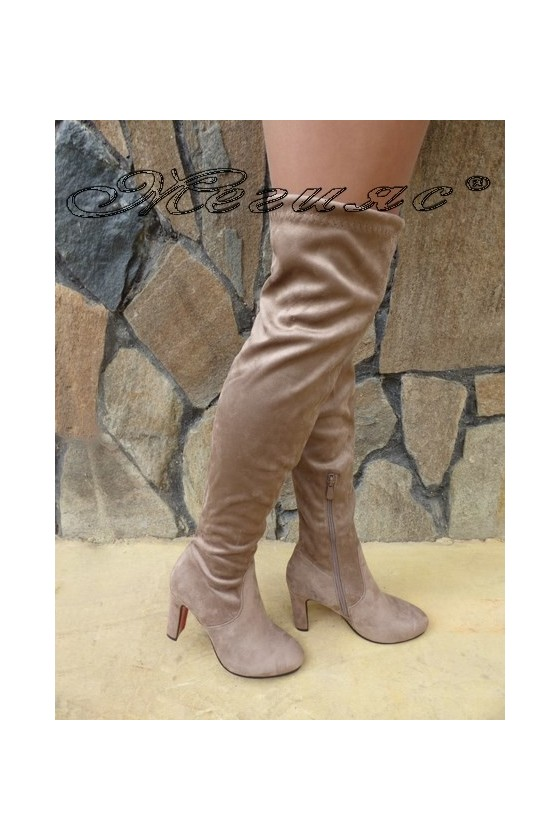 Lady boots Cassie 18-2494 beige suede