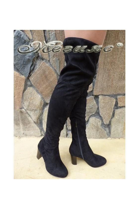 Lady boots Cassie 18-2494-tok black suede