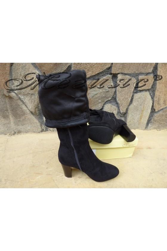 Lady boots Cassie 18-2498-tok black suede