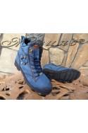 Мъжки боти Х-702 сини от еко кожа
