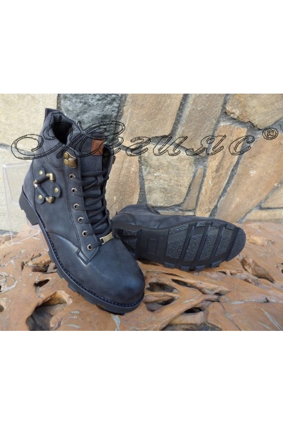 Men's boots 702 black pu