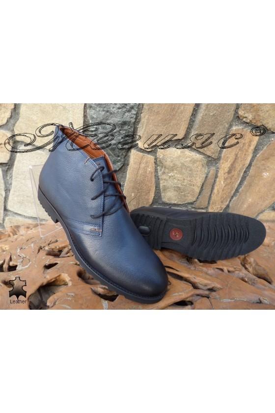 Men's boots XXL 404 dark blue leather