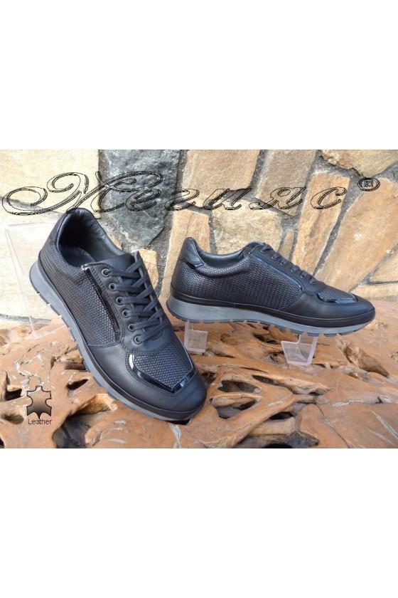 Мъжки обувки 010 черни естествена кожа