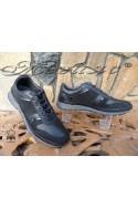 Мъжки обувки 011-14 черни естествен велур