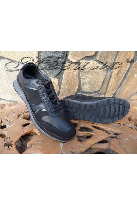 men's shoes 011-14 black leather