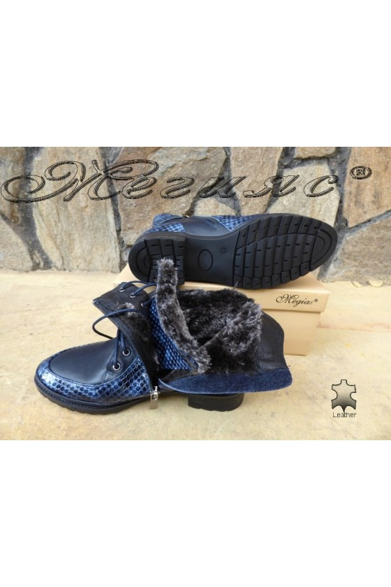 Lady boots 4126 blue  leather