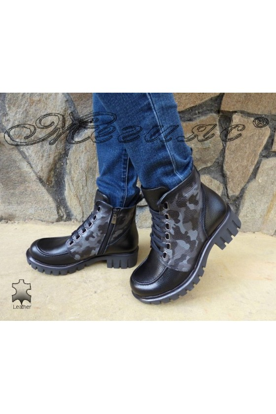 Lady boots 783 black leather