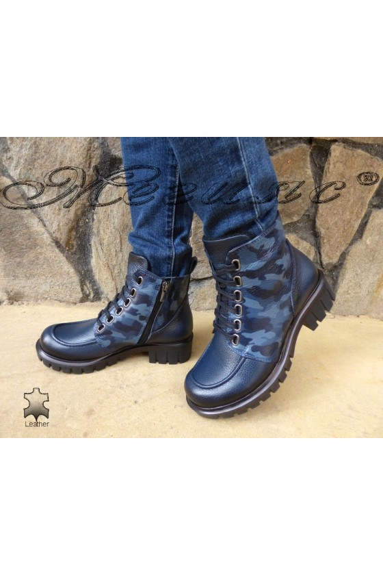Lady boots 783 blue leather