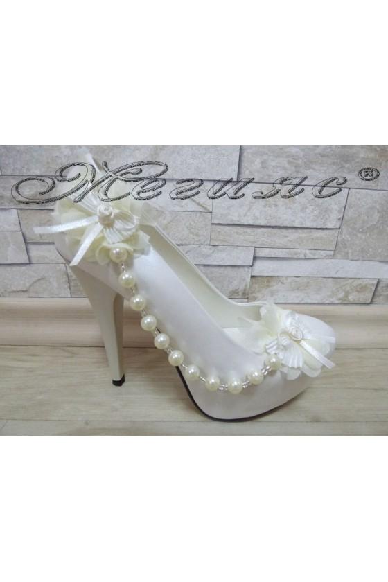Women elegant shoes 302 white whith high heel