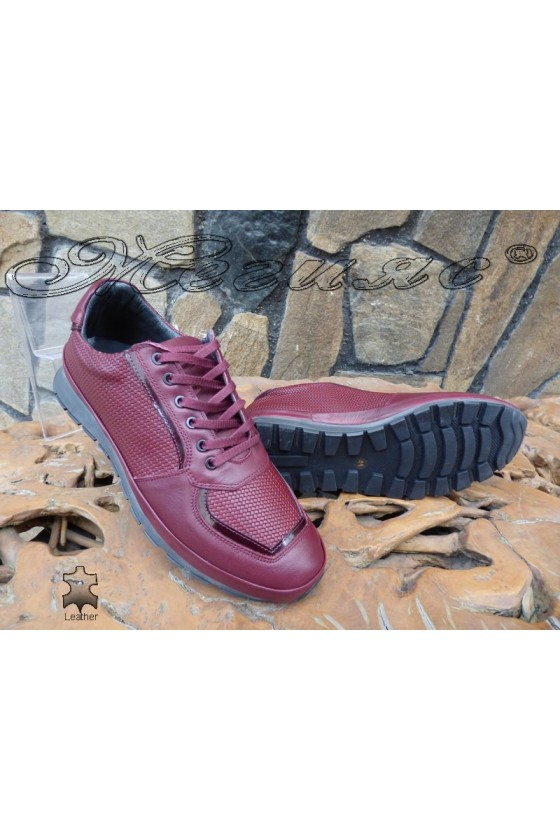 Men's shoes 1798 wine leather