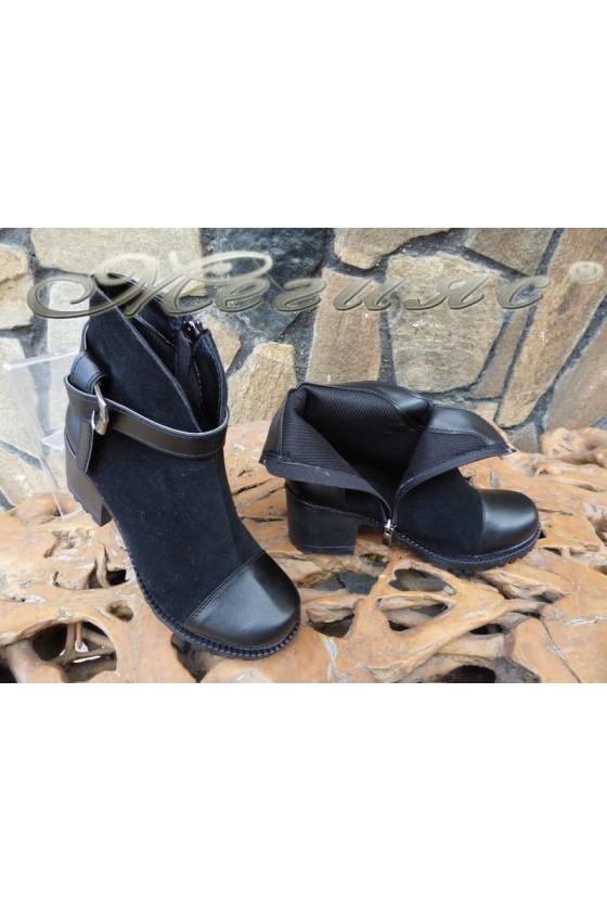 Women boots 435 black suede