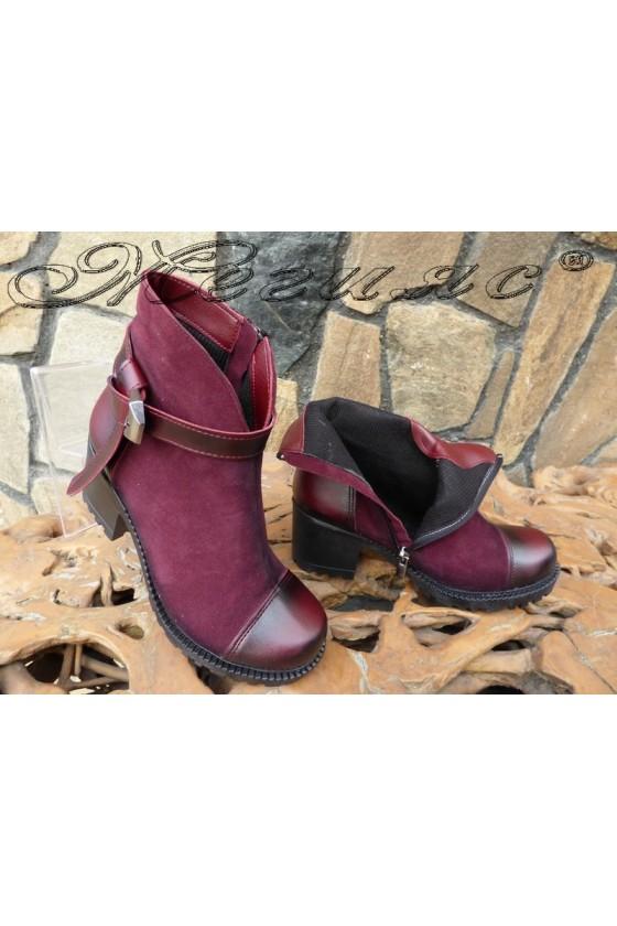 Women boots 435 wine suede