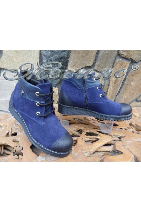 Women boots 2018 blue suede
