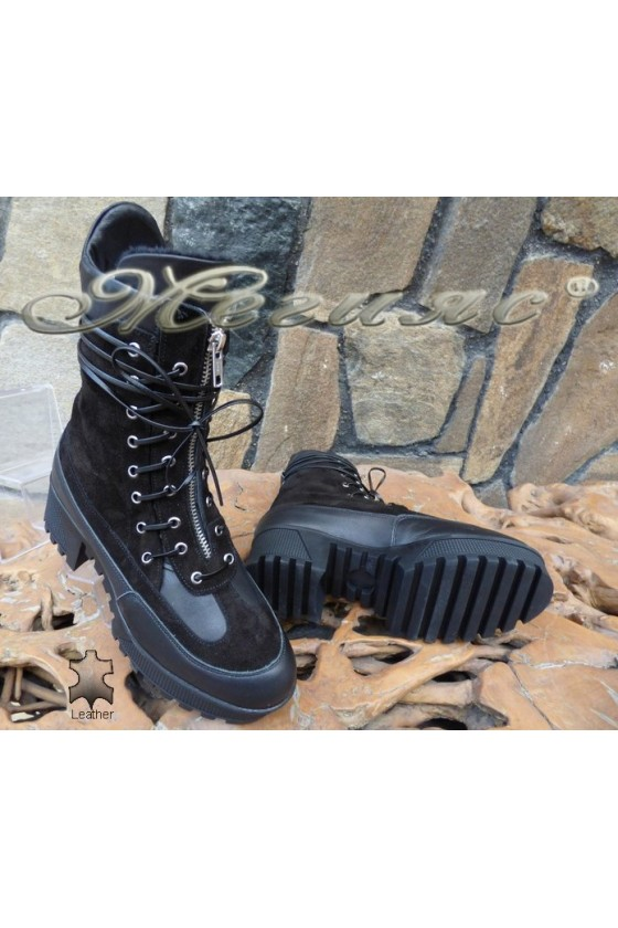 Lady boots 4114 black suede