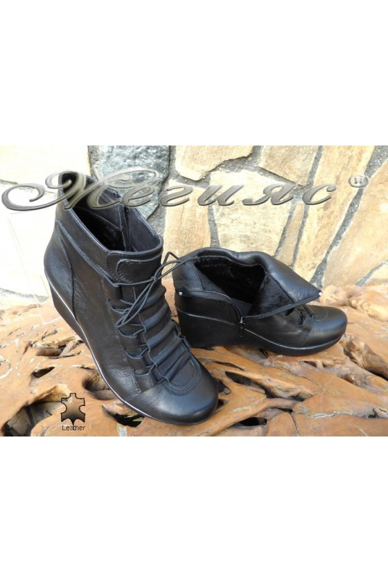 Lady boots 5333  black leather
