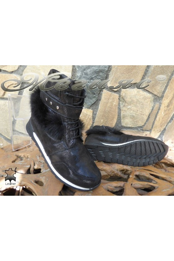 Lady boots 4143 black leather