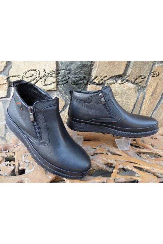 Men's sport boots 171-80 black leather
