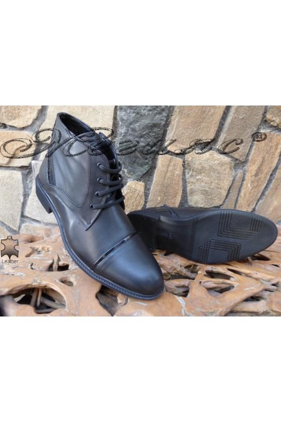 Men's boots 14800 black leather