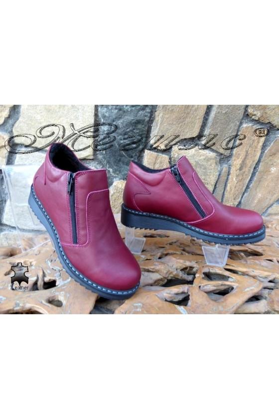 Lady boots 2033 XXL bordo leather
