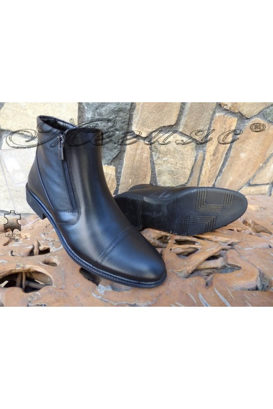 Men's boots 14801 black leather