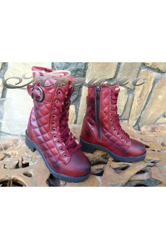 Women/children's boots 342/343 bordo pu