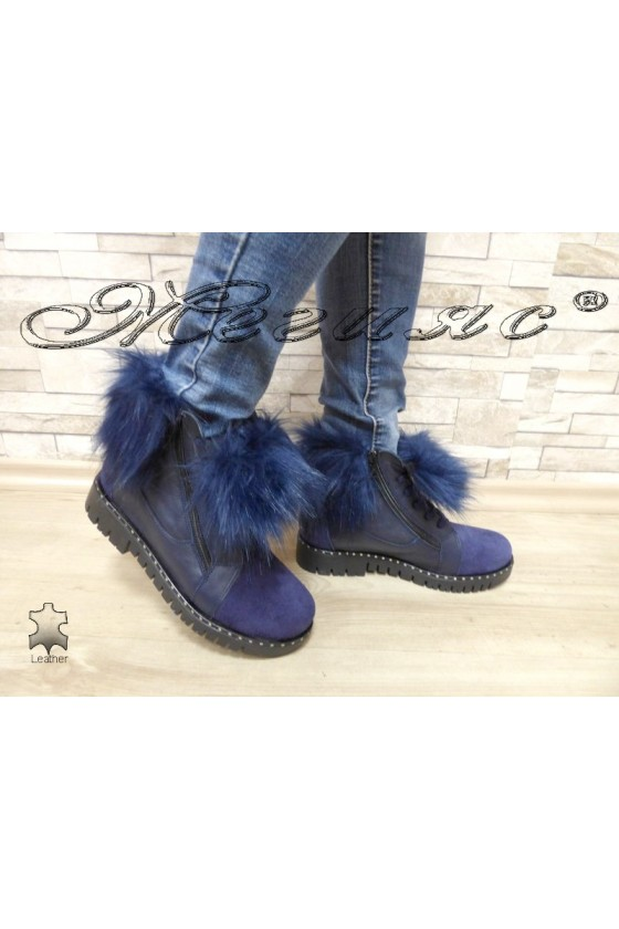 Lady boots 2090 blue leather