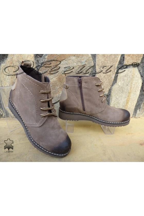 Women boots XXL 2022 beige suede leather
