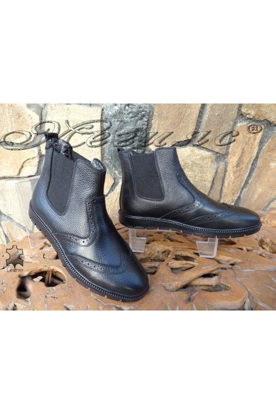 Men's boots 799 black leather