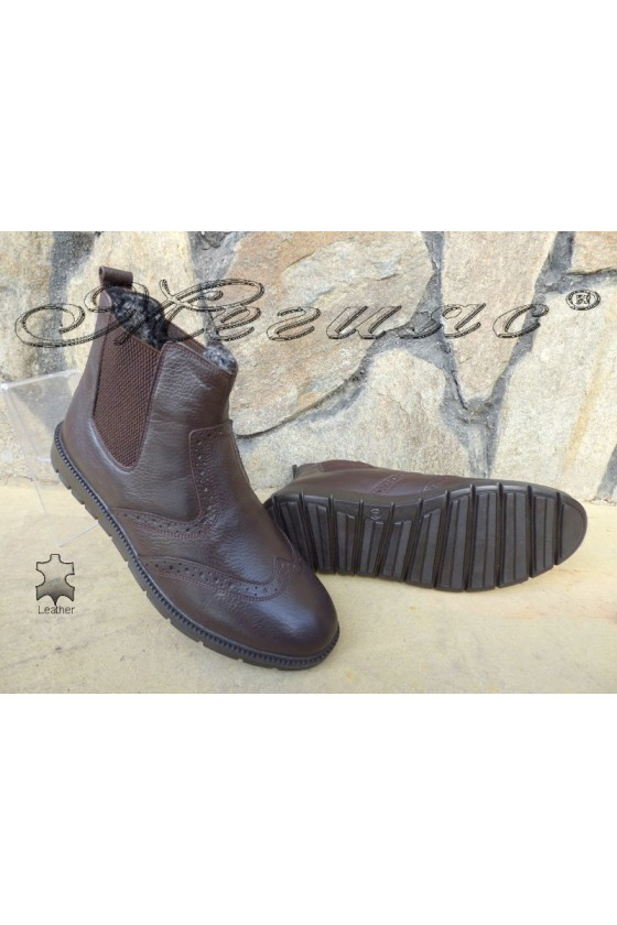Men's boots 799 brown leather