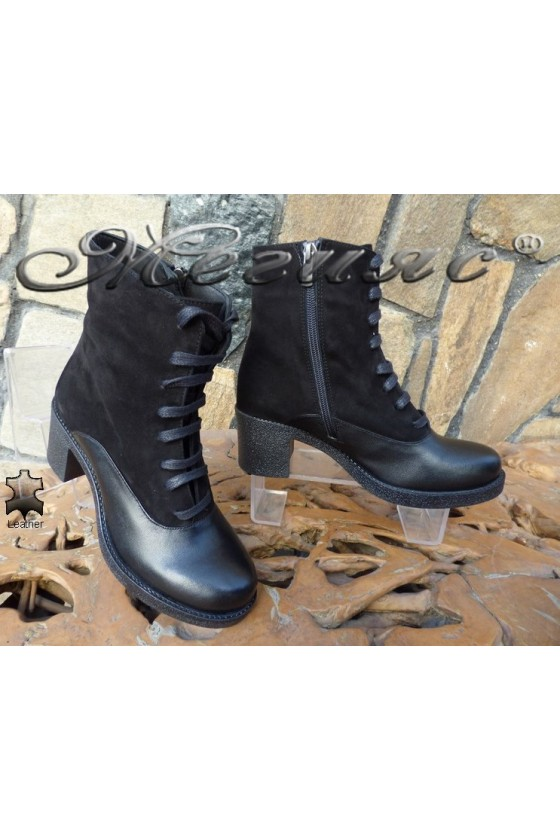 Lady boots 7365 black leather