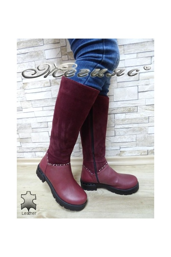 Lady boots 235 wine leather